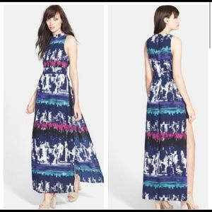Leith Maxi Dress w/Fly Away Side Slits & Romper